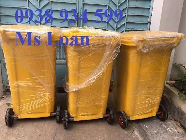 Thùng rác 240l nhựa composite2