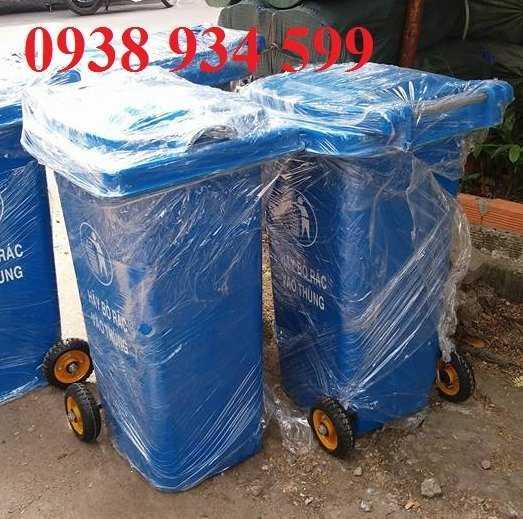 Thùng rác 240l nhựa composite0