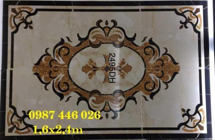 Gạch thảm phòng khách, gạch trang trí hoa văn 3d12