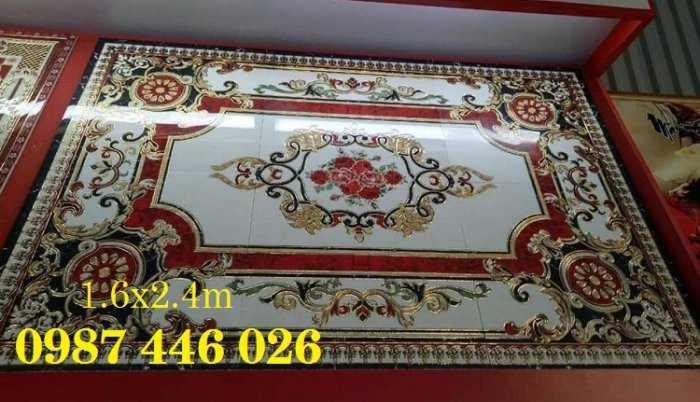 Gạch thảm phòng khách, gạch trang trí hoa văn 3d7
