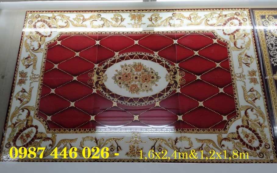 Gạch thảm phòng khách, gạch trang trí hoa văn 3d5