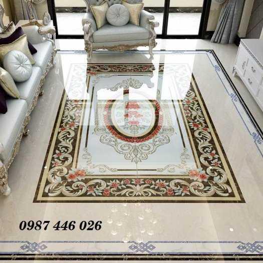 Gạch thảm phòng khách, gạch trang trí hoa văn 3d4