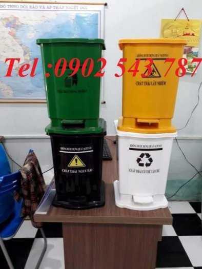 Thùng rác đạp chân y tế 15 lít ,thùng rác 20 lít y tế4
