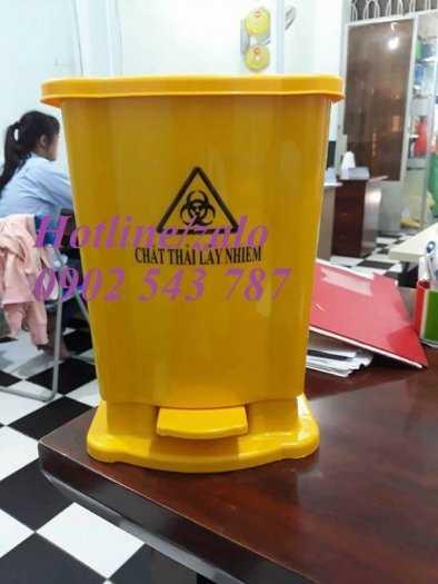 Thùng rác đạp chân y tế 15 lít ,thùng rác 20 lít y tế3