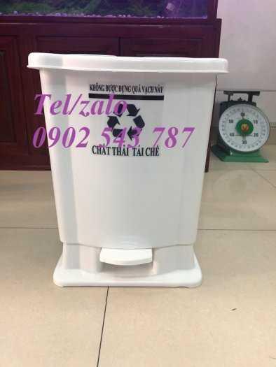 Thùng rác đạp chân y tế 15 lít ,thùng rác 20 lít y tế2