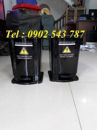 Thùng rác đạp chân y tế 15 lít ,thùng rác 20 lít y tế0