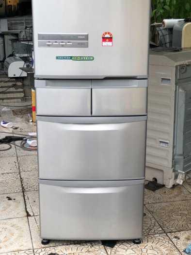 Tủ lạnh nội địa Hitachi R-S42BML 415 L đời 2012 ,công nghệ mới  #S42BMTtủ lạnh 5 cánh vừa đẹp trong lẫn ngoài mà còn tiết kiệm điện. Tủ còn mới >90% mặt trước không trầy xước, tiết kiệm điện 210kwh/năm 1 ngày chưa đến 1 số điện nha  Ngoài ra, khi mở cửa t10