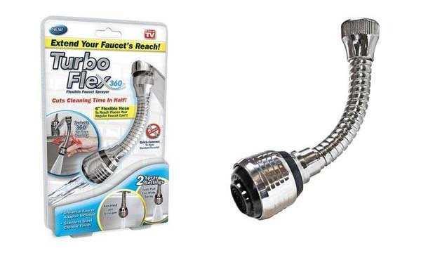 Vòi rửa tăng áp xoay 360 độ Turbo Flex1