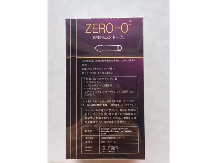 Bao cao su Zero O2 ( Nhật )