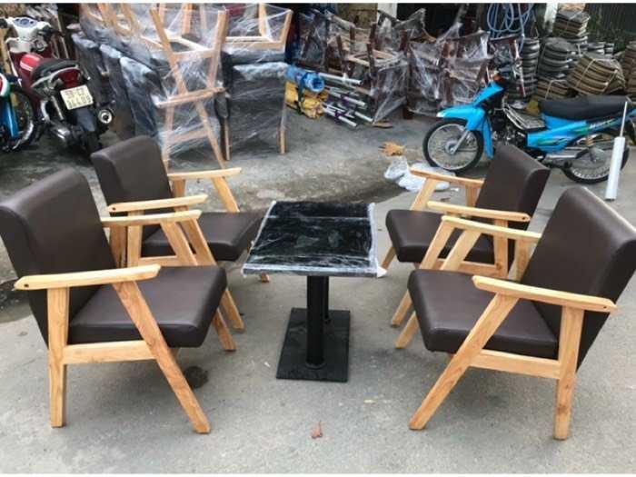 Bộ bàn ghế gỗ sofa nệm giá rẻ0
