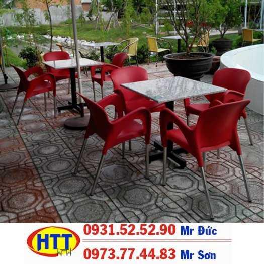 Xả kho bàn ghế cafe nhựa giá rẻ HTN0910