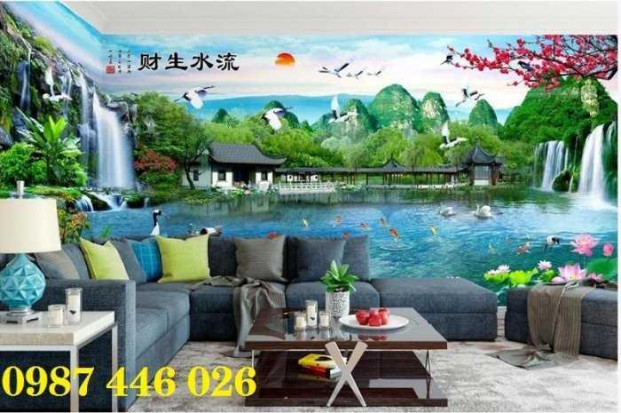 Tranh tường phong cảnh thiên nhiên, gạch trang trí HP024719