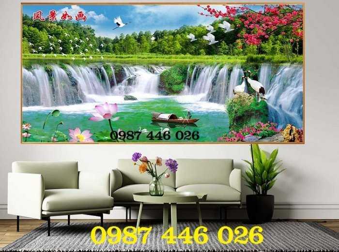 Tranh tường phong cảnh thiên nhiên, gạch trang trí HP024718