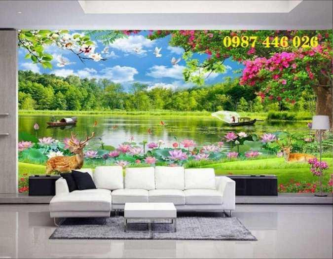 Tranh tường phong cảnh thiên nhiên, gạch trang trí HP024717