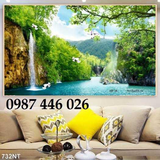 Tranh tường phong cảnh thiên nhiên, gạch trang trí HP024716