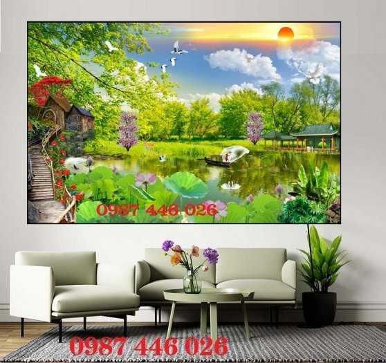 Tranh tường phong cảnh thiên nhiên, gạch trang trí HP024711