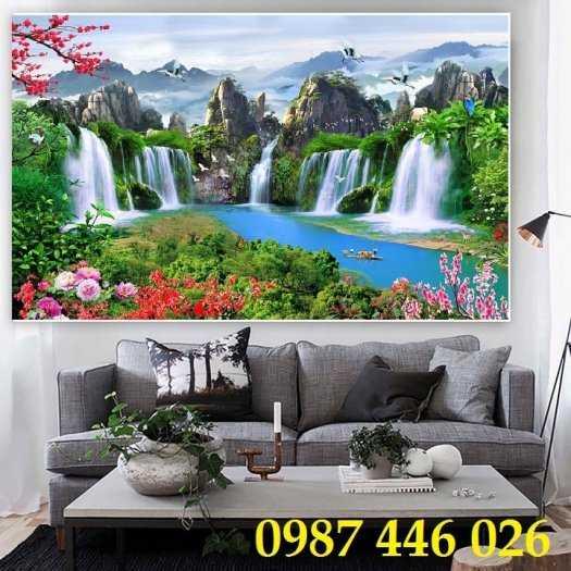 Tranh tường phong cảnh thiên nhiên, gạch trang trí HP02475