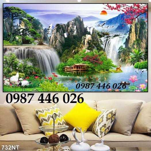 Tranh tường phong cảnh thiên nhiên, gạch trang trí HP02474
