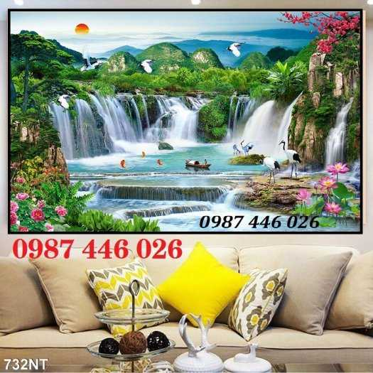 Tranh tường phong cảnh thiên nhiên, gạch trang trí HP02473