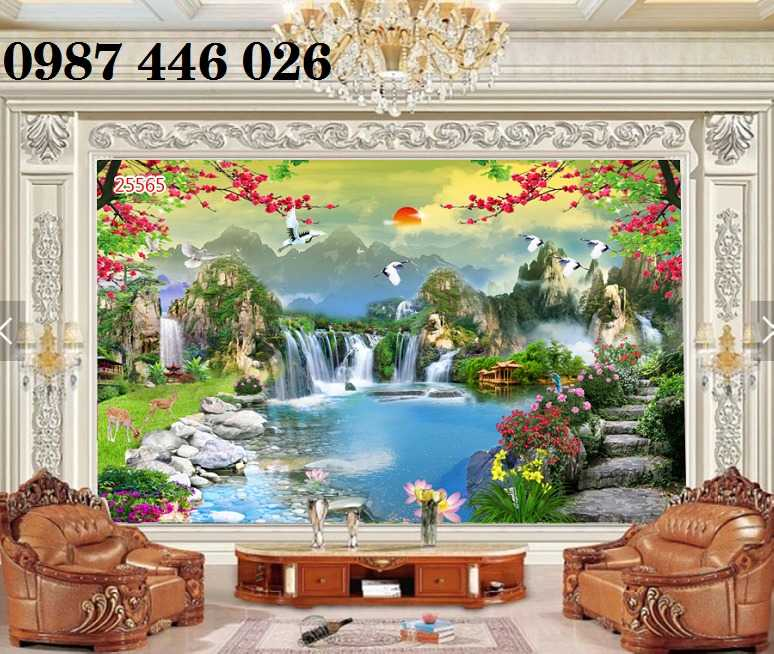 Tranh tường phong cảnh thiên nhiên, gạch trang trí HP02471