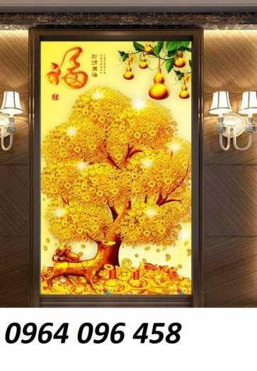 Tranh cây tiền - gạch tranh 3d cây tiền7