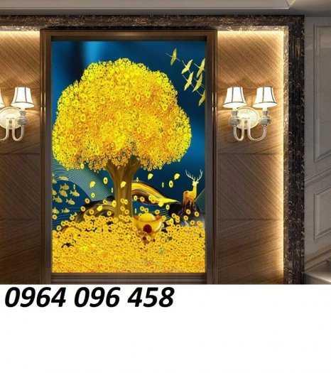 Tranh cây tiền - gạch tranh 3d cây tiền6