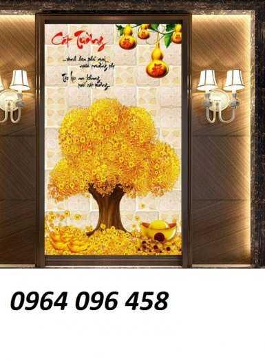 Tranh cây tiền - gạch tranh 3d cây tiền5