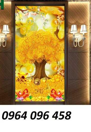 Tranh cây tiền - gạch tranh 3d cây tiền4