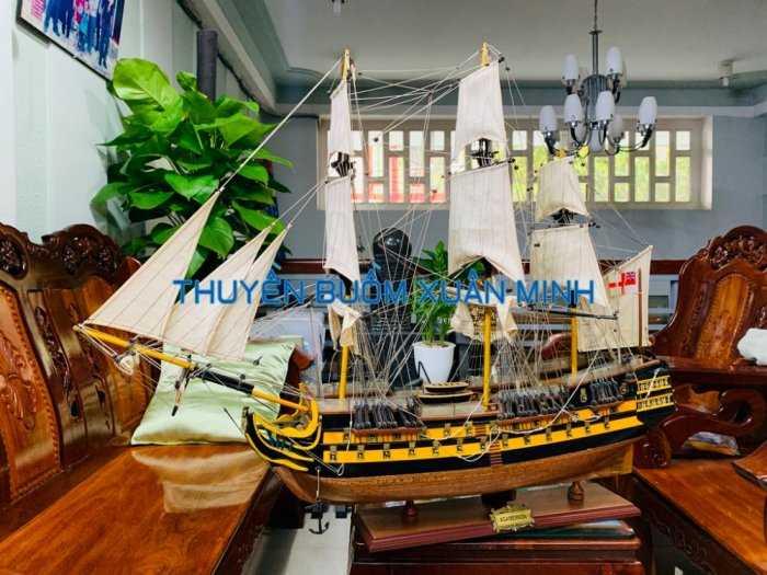 Mô Hình Tàu Chiến Cổ Hàng Xuất Khẩu (Sơn Màu) | Gỗ Căm Xe | Dài 90-100cm9