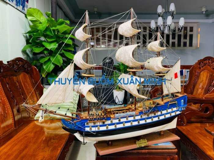Mô Hình Tàu Chiến Cổ Hàng Xuất Khẩu (Sơn Màu) | Gỗ Căm Xe | Dài 90-100cm7