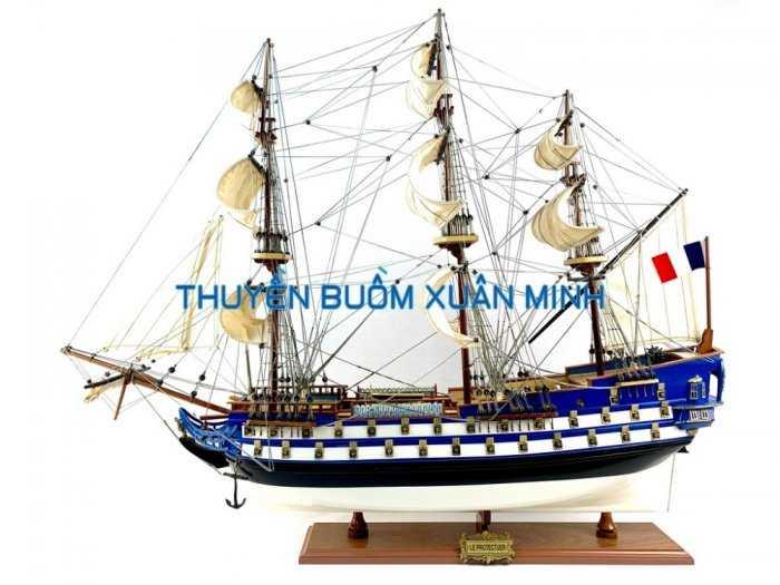 Mô Hình Tàu Chiến Cổ Hàng Xuất Khẩu (Sơn Màu) | Gỗ Căm Xe | Dài 90-100cm6
