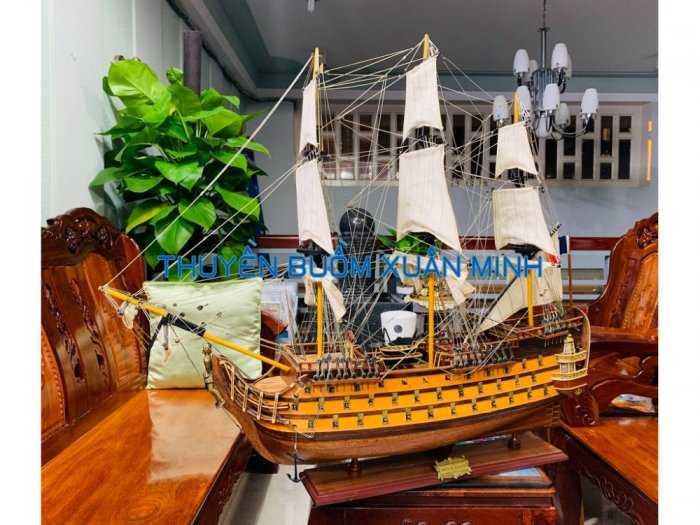 Mô Hình Tàu Chiến Cổ Hàng Xuất Khẩu (Sơn Màu) | Gỗ Căm Xe | Dài 90-100cm5