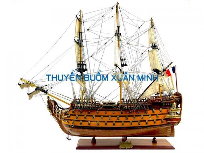Mô Hình Tàu Chiến Cổ Hàng Xuất Khẩu (Sơn Màu) | Gỗ Căm Xe | Dài 90-100cm4