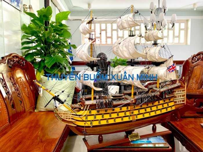 Mô Hình Tàu Chiến Cổ Hàng Xuất Khẩu (Sơn Màu) | Gỗ Căm Xe | Dài 90-100cm3