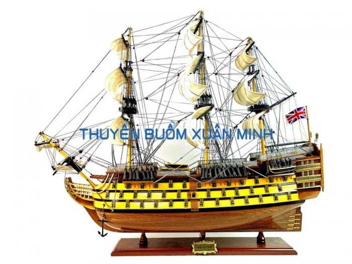 Mô Hình Tàu Chiến Cổ Hàng Xuất Khẩu (Sơn Màu) | Gỗ Căm Xe | Dài 90-100cm2