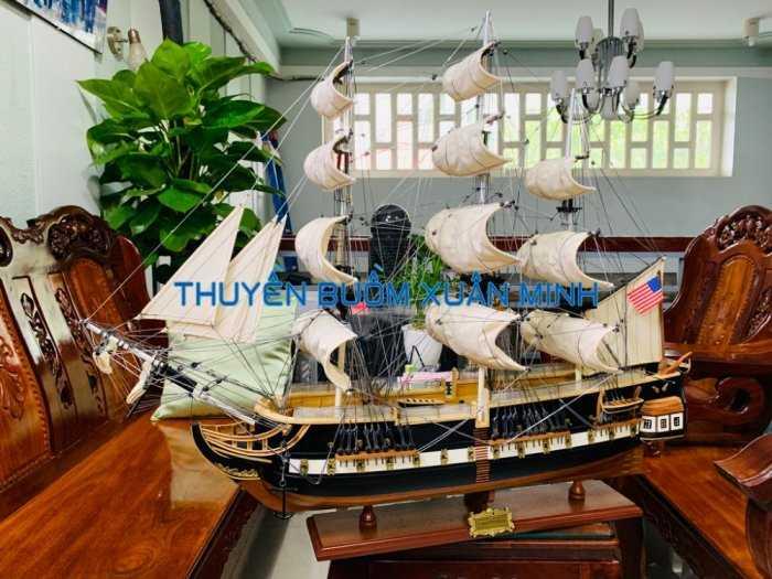 Mô Hình Tàu Chiến Cổ Hàng Xuất Khẩu (Sơn Màu) | Gỗ Căm Xe | Dài 90-100cm1