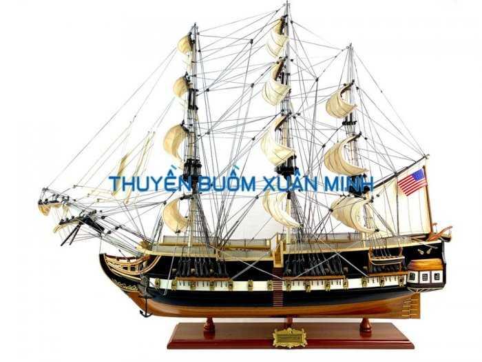Mô Hình Tàu Chiến Cổ Hàng Xuất Khẩu (Sơn Màu) | Gỗ Căm Xe | Dài 90-100cm