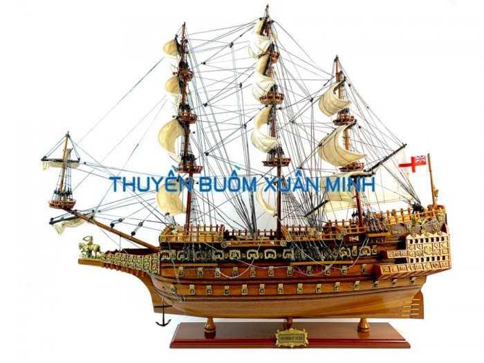 Mô Hình Tàu Chiến Cổ Hàng Xuất Khẩu | Gỗ Căm Xe | Thân 80-90cm