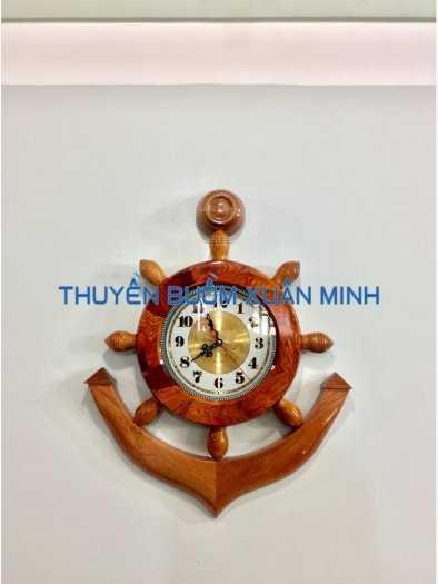 Mô Hình Mỏ Neo Tàu Gỗ Đồng Hồ Treo Tường | Gỗ Cẩm Lai | Size 50-60-80cm