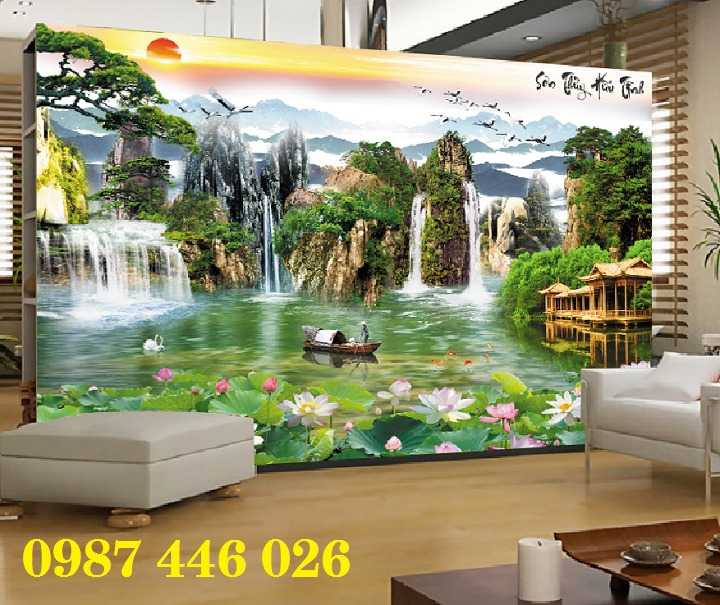 Gạch ốp tường, tranh 3d, gạch trang trí phòng khách HP185665