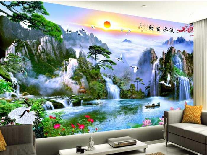 Gạch ốp tường, tranh 3d, gạch trang trí phòng khách HP185664