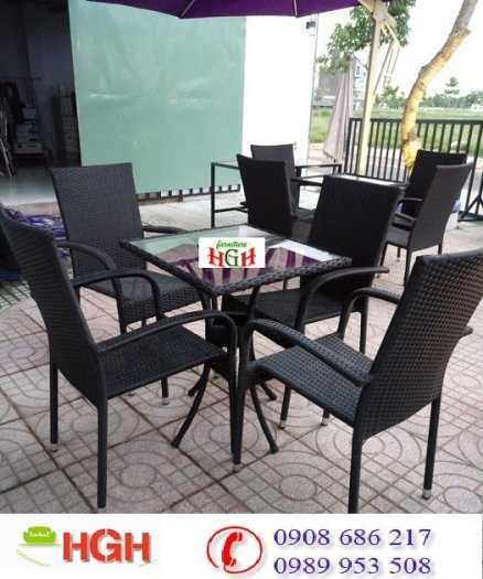 Bộ bàn ghế cafe giá rẻ2