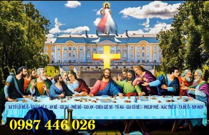 Tranh gạch thiên chúa, gạch ốp tường HP3800