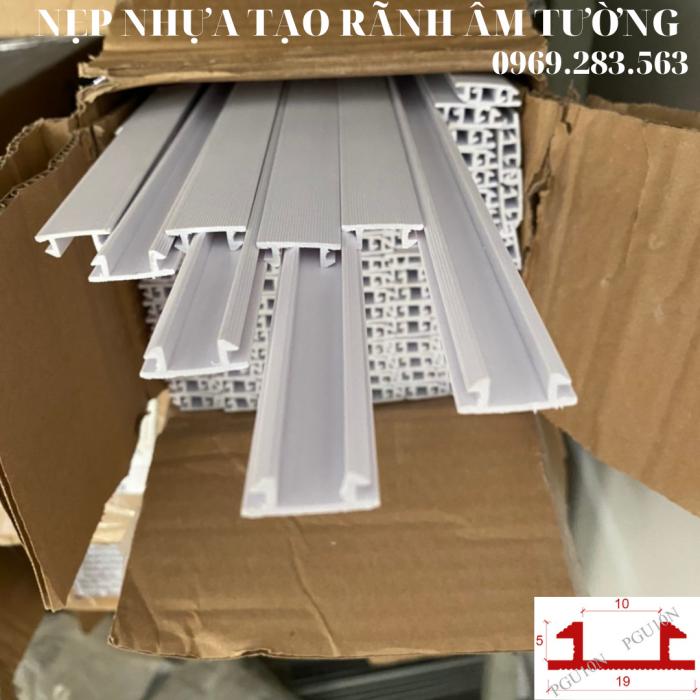 Nẹp nhựa tạo rãnh U10mm - Nẹp tạo rãnh chữ U  - Ron chỉ nhựa âm tường - Nẹp nhựa tạo rãnh trang trí.0