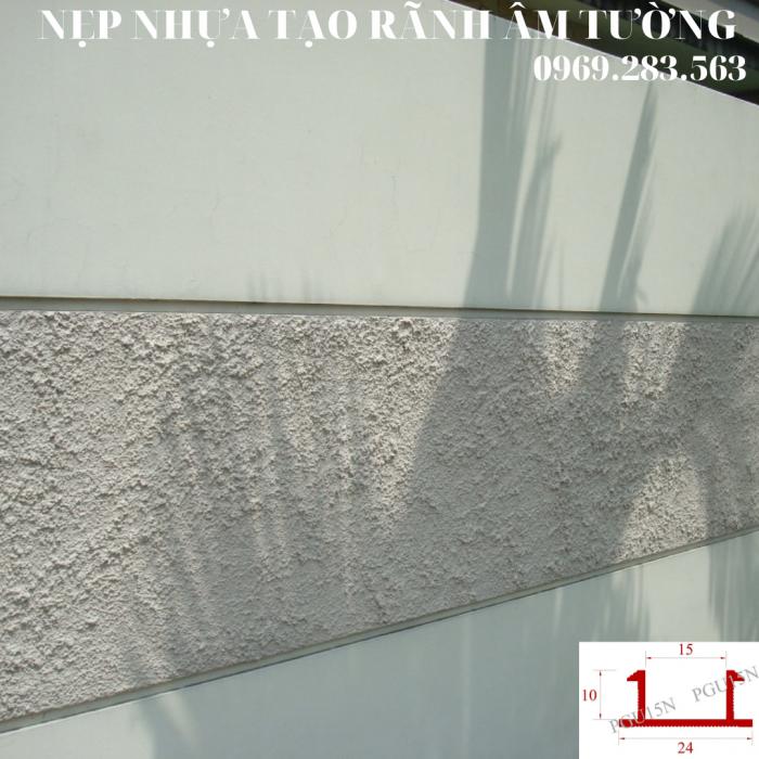 Nẹp nhựa tạo rãnh U10mm - Nẹp tạo rãnh chữ U  - Ron chỉ nhựa âm tường - Nẹp nhựa tạo rãnh trang trí  - Hình thi công 12