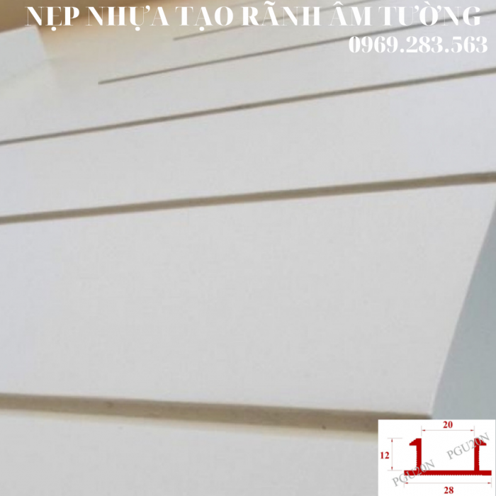 Nẹp nhựa tạo rãnh U10mm - Nẹp tạo rãnh chữ U  - Ron chỉ nhựa âm tường - Nẹp nhựa tạo rãnh trang trí  - Hình thi công 23