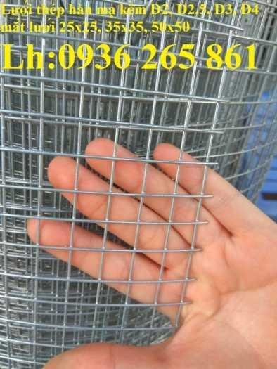 Lưới thép hàn mạ kẽm phi4 mắt lưới 50x50, khổ 1mx10m