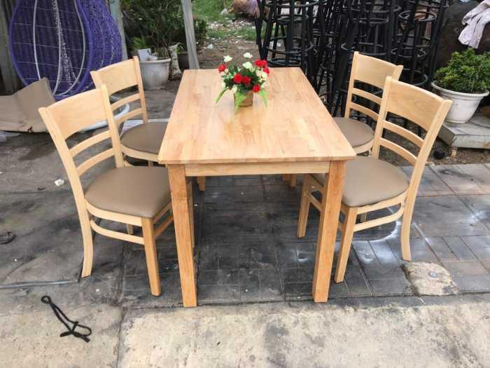 Ghế phòng ăn gỗ nệm,ghế cafe Cabin hàng xưởng giá siêu tốt NTVĐ0250