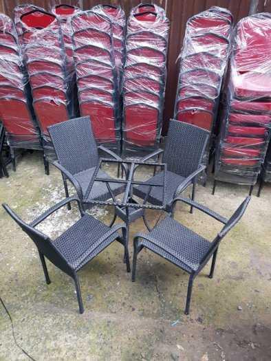 Bàn ghế cafe nhựa giả mây Faso giá rẻ VĐ0450