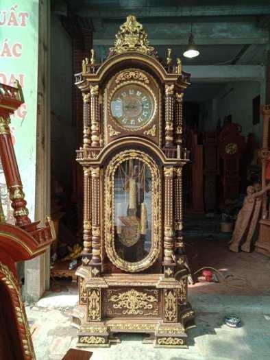 Cây Đồng Hồ Tứ Trụ Dát Vàng Cực Kì Víp2